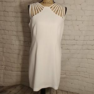 White Strappy Dress size Large